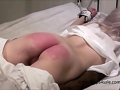 Petite Victorian girl getting a firm punishment