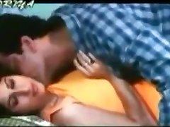 Vintage porn shows a huge-titted Indian slut making out