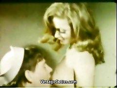 Girlfriend's Blow Mouth Cumshot (1960s Vintage)