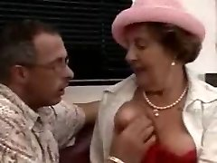 Super-naughty Brunette Grannie Fucked on the floor