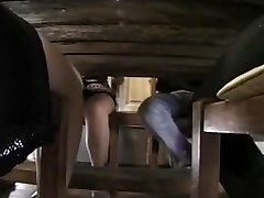 Classical porno clip featuring a sex loving French family