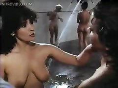 Linda blair sybil danning edy williams marcia karr and sharon hughes in the prison showers linda blair sy