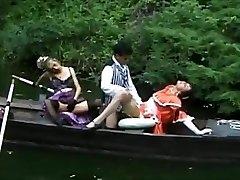 FFM thresome in a boat