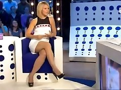 Local celebrity undies up microskirt in a live show