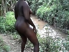 African fat backside and real ejaculation amateur