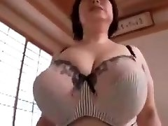 Japanese mature with huge tits 2