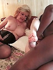Grandma sluts enjoying a hard black cock