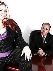 Good-sized Slut Sexercises With President