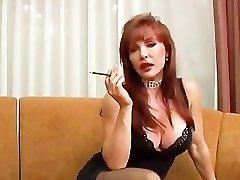 Mature Vanessa smoking and porking