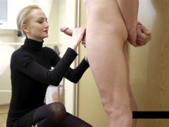 Cum on clothes for the fantastic blondie