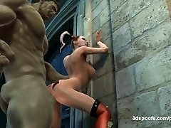 Hulk out with your manstick out! Harley and Hulk get a tiny bit in back alley