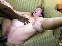 Lovemaking-crazy pregnant cockslut Charlie Macc is fond of big ebony dick