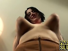Tattooed BBW enormous ass cougar slut gets her meat holes stuffed