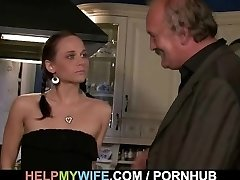 Sex-positive wifey is fucked on the table