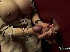 Adulterous british milf lady sonia unsheathes her immense boobs01
