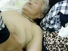 80year old Asian Granny Still gets Creamed (Uncensored)