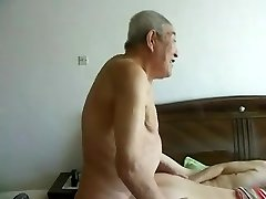 Awesome chinese aged people having excellent fuck-a-thon