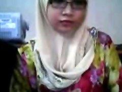 malajski - awek tudung depan cam