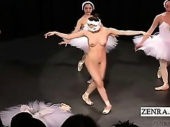 Subtitled Japanese CMNF ballerina recital takes off bare