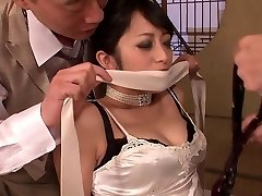 Fancy hotty gets had threesome fuck after dinner