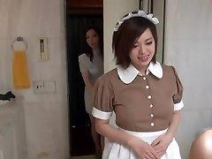 Stellar Oriental Maid in glamour hotel scene