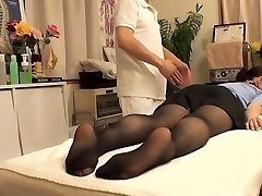 Cutie with hairy vagina visits her therapist and gets fingerblasted