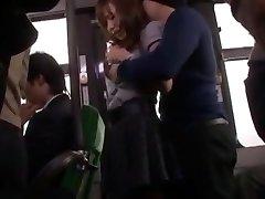 Hottest Japanese model Nana Konishi in Incredible Group Sex, Stockings JAV clip