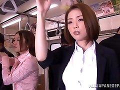 Super-naughty Asian model gets hard spunk-pump in public
