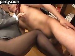 Secretary Cum On Her Stocking Japanese