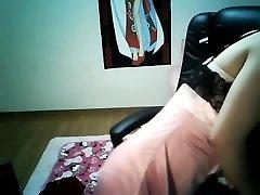 زیبا و دلفریب, دختر چینی, چینی, نوک پستان, سوراخ کردن بدن, در خانه ها توسط کیو سان