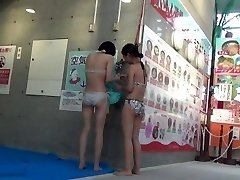 A scene of Kokomi wc at swimming pool