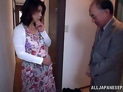 Hot Japanese model gets poked in all her fuckholes
