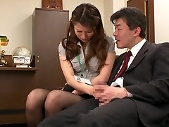 Nao Yoshizaki in Fuck-a-thon Slave Office Lady part 1.Two