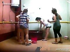 ###ping japanese chicks bathing
