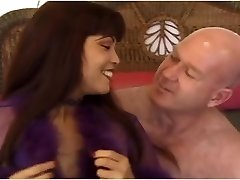 Slutty asian MILF Mimi fucks an ugly aged bald guy