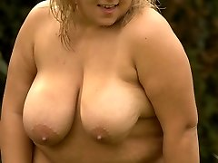 Super-naughty blonde Plus-size follows a insatiable fellow into a secured area to get in a hot outdoor sex