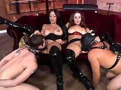 2 Mistress fun with slaves