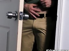 Hunk daddy raw fucks his twink stepson and creaming his donk