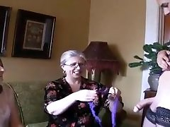 Two sizzling grannies and ladyboy
