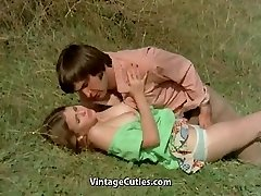 Fellow Tries to Entice teen in Meadow (1970s Vintage)