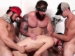 Muscle boy piss and cumshot
