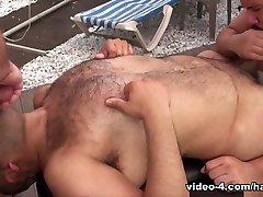 Lanz Adams, Gunner Scott and Renzo Marquez - Part 2 - HairyAndRaw