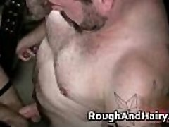 Group gay vignette with bondage and cock queer porn
