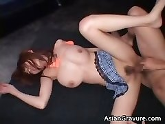 Titted real asian red head getting her part6