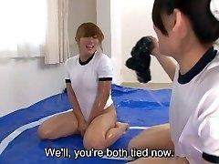 Subtitles Japanese sumo oil wrestling game