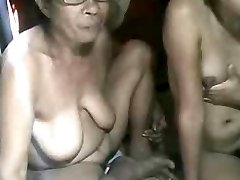 FILIPINA Grannie AND NOT HER GRANdaughter Showing ON CAM