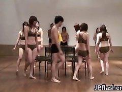 Super hot Japanese ladies flashing
