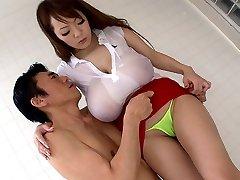 Traks Japāņu cāli Hitomi Tanaka Labāko JAV cenzēts Vannas istaba, Big Tits filmas
