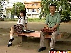 Japanese teenage is fucked on toilet