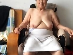 Japanese 80+ Grandmother After bath